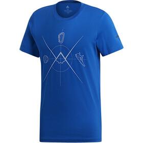 adidas TERREX Ascend Lyhythihainen paita Miehet, blue beauty